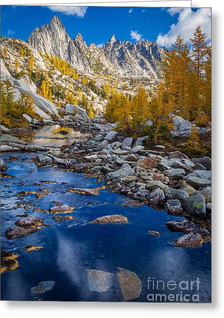 Leavenworth Greeting Cards - Enchanted river Greeting Card by Inge Johnsson