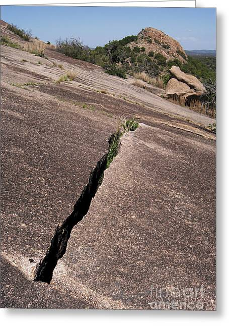 Tor Greeting Cards - Enchanted Rock Exfoliation Greeting Card by Gregory G. Dimijian