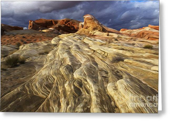 Sacred Earth Greeting Cards - Enchanted Spaces Valley Of Fire Greeting Card by Bob Christopher