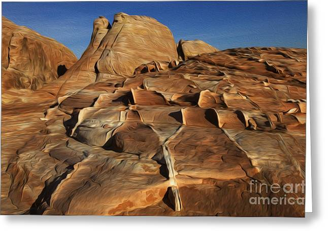 Sacred Earth Greeting Cards - Enchanted Spaces Valley Of Fire Nevada 2 Greeting Card by Bob Christopher