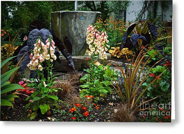 Chanticleer Greeting Cards - Enchanted Spring Garden Greeting Card by Byron Varvarigos