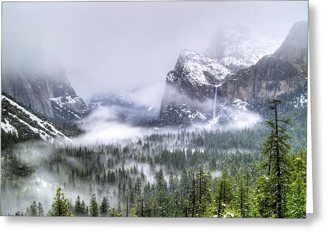 Enchanted Valley Greeting Card by Bill Gallagher