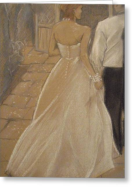 Ball Gown Greeting Cards - Enchanted Wedding Night Greeting Card by Michelle Deyna-Hayward