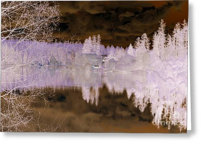 Spokane Greeting Cards - Enchanted wood Greeting Card by Ana Lusi