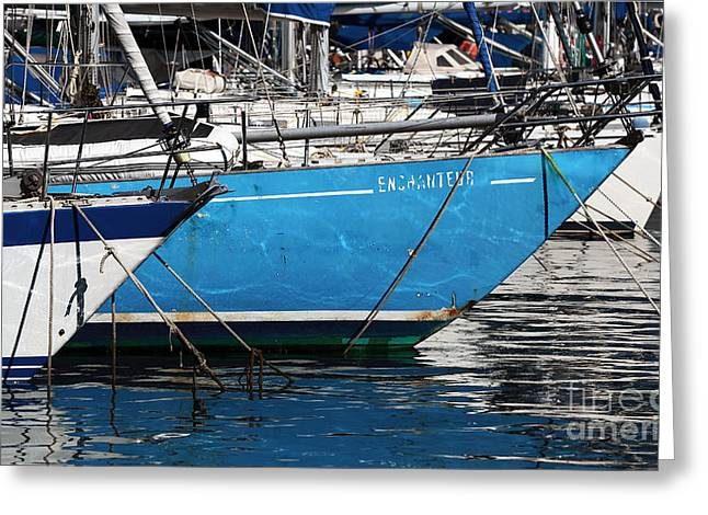 Sailboat Photos Greeting Cards - Enchanter Greeting Card by John Rizzuto