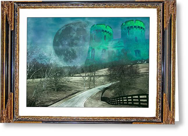 Mystical Landscape Mixed Media Greeting Cards - Enchanting Evening with Oz Greeting Card by Betsy C  Knapp