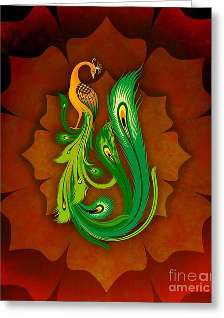 Bedros Awak Greeting Cards - Enchanting Peacock 1 Greeting Card by Bedros Awak