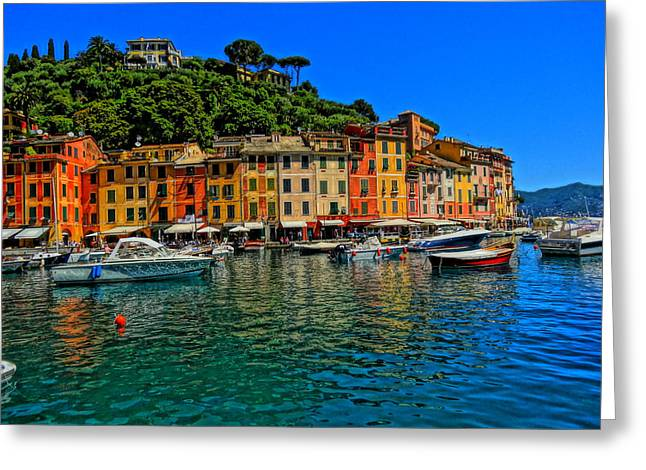 Portofino Italy Art Greeting Cards - Enchanting Portofino in Ligure Italy II Greeting Card by M Bleichner