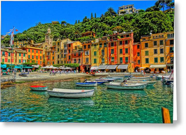 Portofino Italy Art Greeting Cards - Enchanting Portofino in Ligure Italy III Greeting Card by M Bleichner