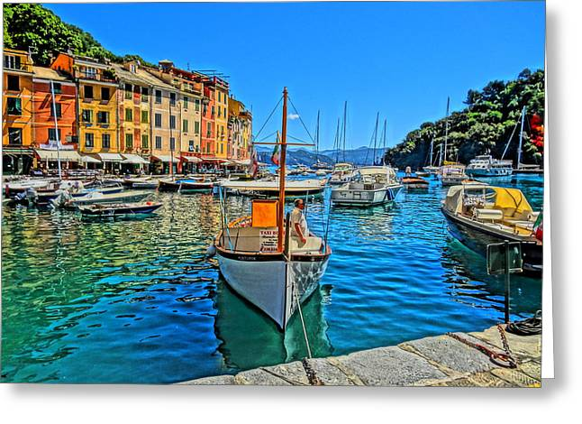 Portofino Italy Art Greeting Cards - Enchanting Portofino in Ligure Italy IV Greeting Card by M Bleichner