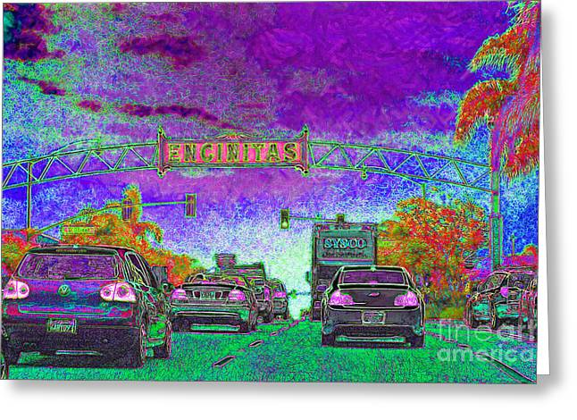 Encinitas California 5D24221m68 Greeting Card by Wingsdomain Art and Photography