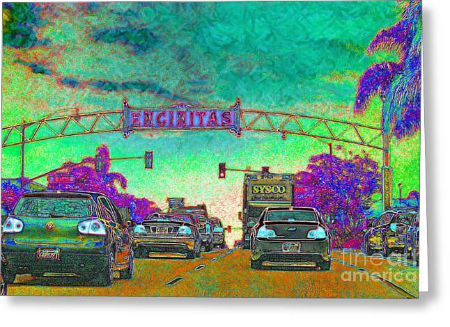 Encinitas California 5D24221p180 Greeting Card by Wingsdomain Art and Photography