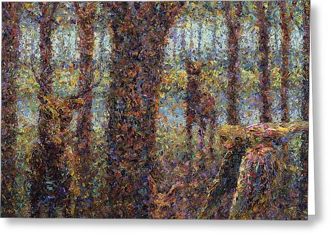 Texture Greeting Cards - Encounter Greeting Card by James W Johnson