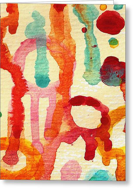 Abstract Forms Greeting Cards - Encounters 5 Greeting Card by Amy Vangsgard