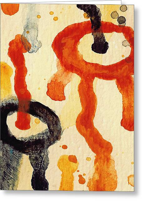 Abstract Landscape Greeting Cards - Encounters 6 Greeting Card by Amy Vangsgard