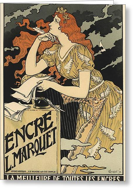 Belle Epoque Greeting Cards - Encre L. Marquet Greeting Card by Gianfranco Weiss