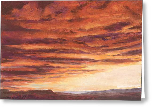 Colorado Pastels Greeting Cards - End of a Day Greeting Card by Billie Colson