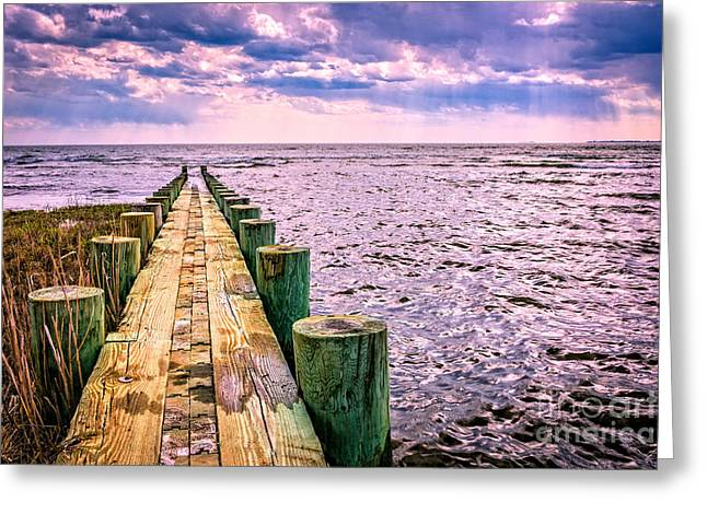 Wooden Structures Greeting Cards - End of a glorious day Greeting Card by Edward Fielding