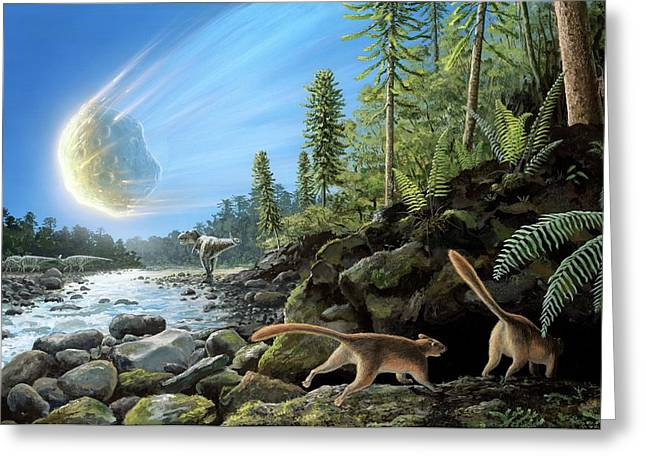 End Of Cretaceous Kt Event Greeting Card by Richard Bizley