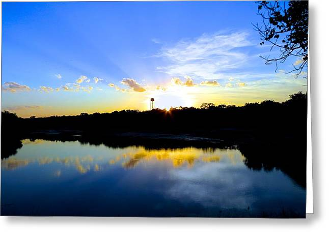 Wimberley Greeting Cards - End  of Day Greeting Card by David  Norman