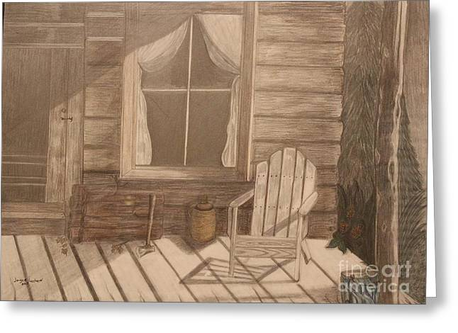 Frame House Pastels Greeting Cards - End of day Greeting Card by Joyce Lawhorn