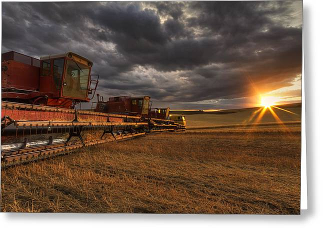 End Of Day Greeting Card by Mark Kiver