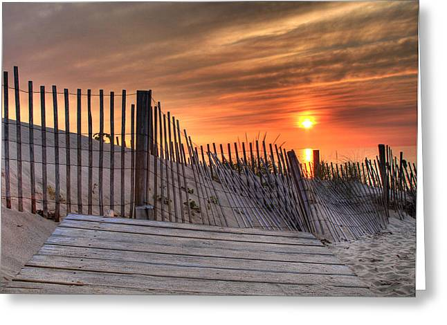 End Of The Day Greeting Card by Mark Beliveau