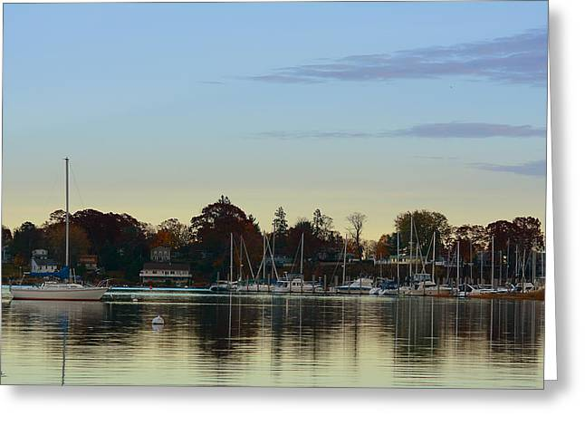 Yacht Basin Greeting Cards - End Of Sail Greeting Card by Lourry Legarde