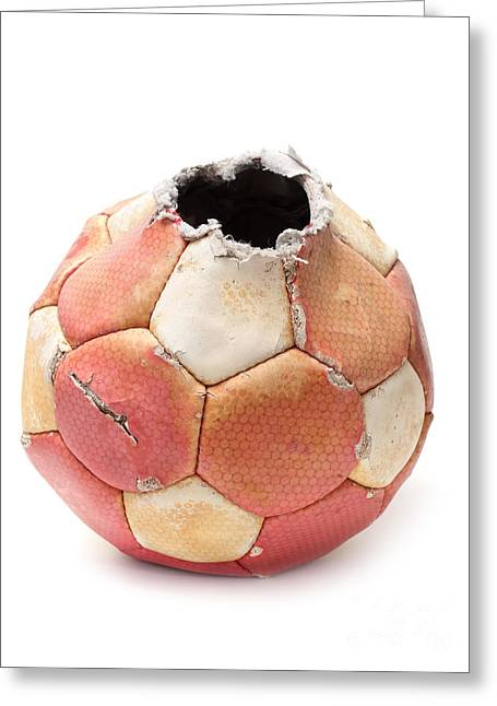 Kickoff Greeting Cards - End of soccer Greeting Card by Sinisa Botas