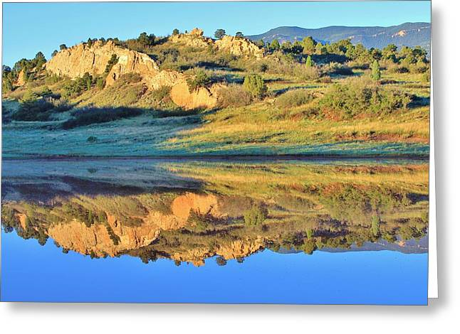 End of Summer Reflections 2 Greeting Card by Diane Alexander