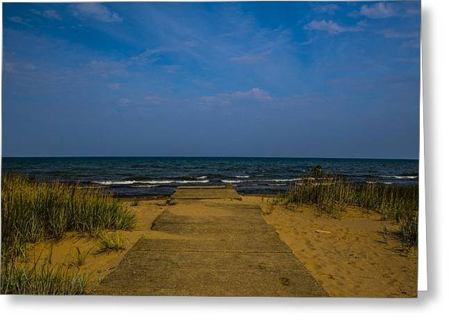 Base Path Greeting Cards - End of the Beach Path Greeting Card by Angus Hooper Iii