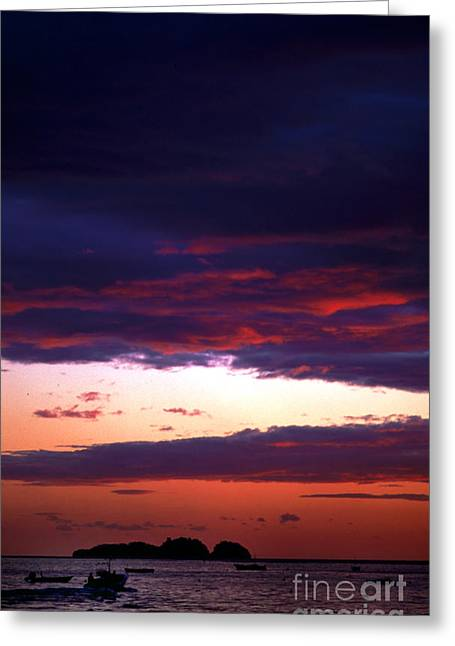 Amalfi Sunset Greeting Cards - End of the Day Greeting Card by Cynthia McCoy Romano