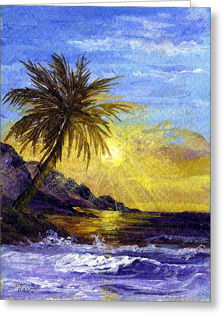 Sun Rays Paintings Greeting Cards - End Of The Day Greeting Card by Darice Machel McGuire