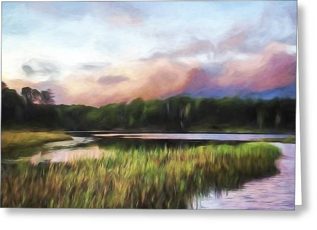 End Of The Day - Landscape Art Greeting Card by Jordan Blackstone