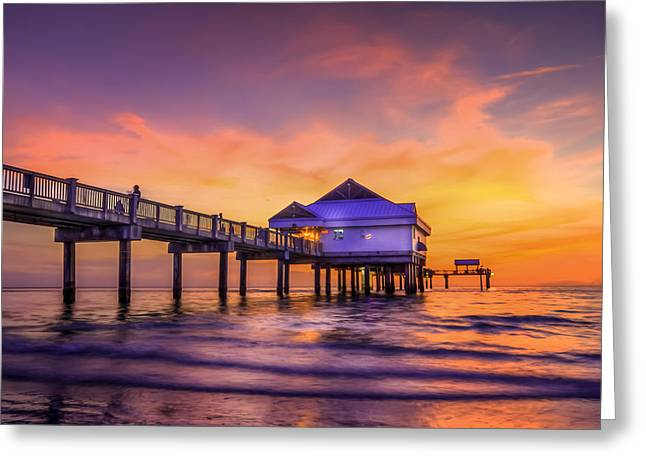Florida Bridge Greeting Cards - End of the Day Greeting Card by Marvin Spates