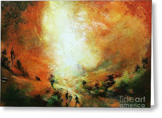 Neil Mcbride Greeting Cards - End of the Day Greeting Card by Neil McBride