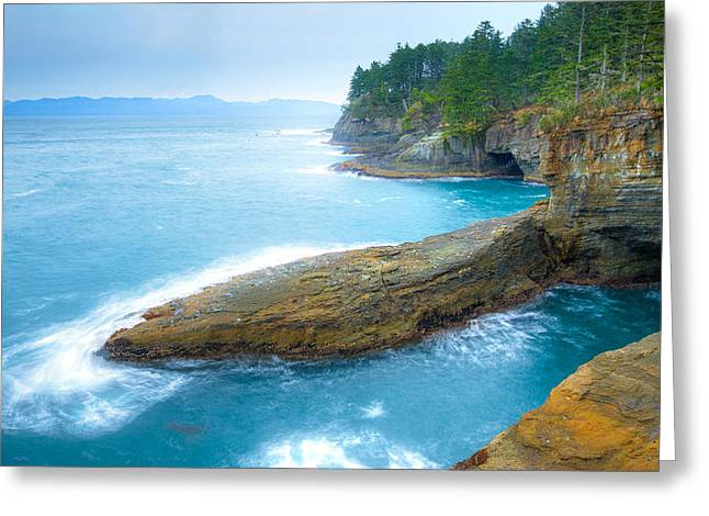 Cape Flattery Greeting Cards - End of the Earth Greeting Card by Anthony J Wright