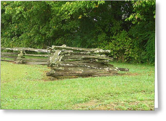 Split Rail Fence Greeting Cards - End of the Fence Greeting Card by Lew Davis