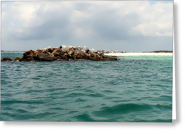 Panama City Beach Greeting Cards - End Of The Jetty Greeting Card by Debra Forand