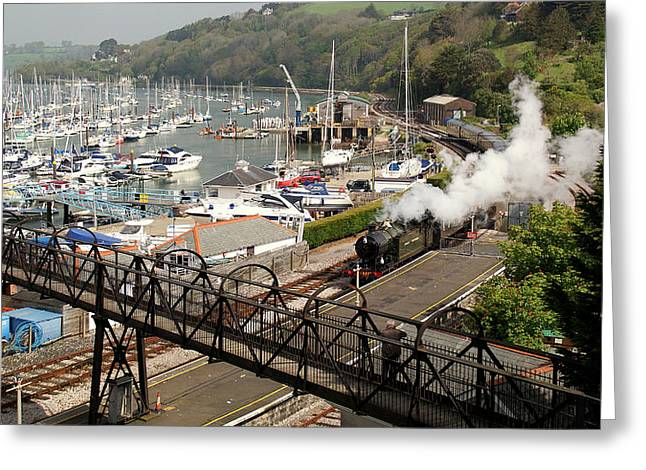 Dart Stations Greeting Cards - End Of The Line At Kingswear Greeting Card by Peter Hunt