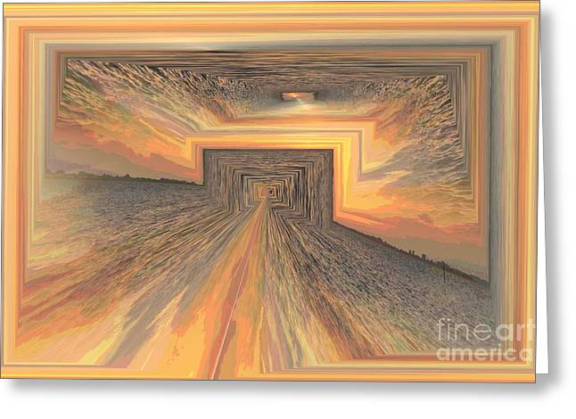 Fire Pyrography Greeting Cards - End Of The Line Greeting Card by Karen Sheltrown
