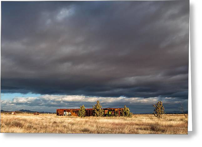 Photorealism Greeting Cards - End of the Line Greeting Card by Kathleen Bishop