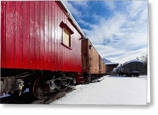 Winter Scene Photographs Greeting Cards - End Of The Line Greeting Card by Peter Chilelli