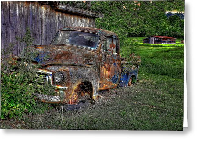 Chicken Coop Greeting Cards - Wears Valley GMC near Wears Valley Tennessee Greeting Card by Reid Callaway