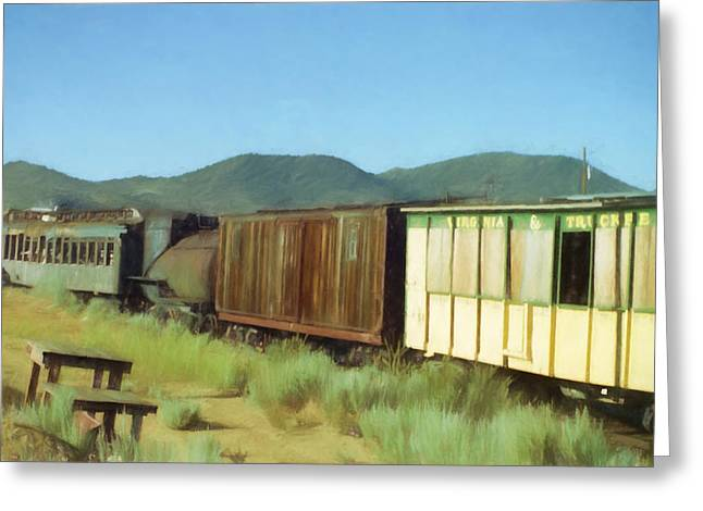 Railroad Greeting Cards - End of the Line Greeting Card by Richard Rizzo
