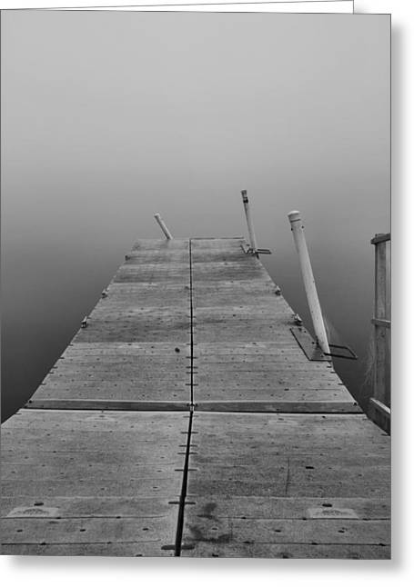 Wooden Dock Greeting Cards - End Of The Road Greeting Card by Dan Sproul