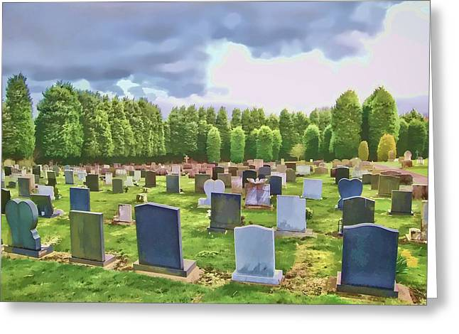Final Resting Place Digital Art Greeting Cards - End of the road Greeting Card by John Lynch