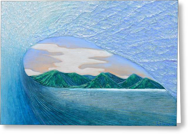 Surfing Art Greeting Cards - End of the Road Greeting Card by Nathan Ledyard