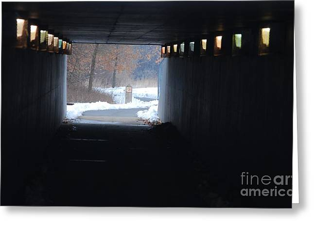 Hope At The End Of The Tunnel Greeting Cards - End of the Tunnel Greeting Card by Mark McReynolds