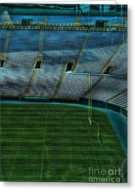 Lambeau Field Greeting Cards - End Zone Lambeau Field Greeting Card by Tommy Anderson